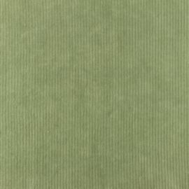 Velours fijne rib olijfgroen