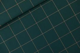 SYAS - Thin Grid XL Green Gables - Canvas Gabardine Twill