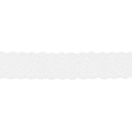 Rekbaar kant off-white