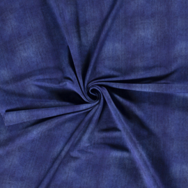 French terry digital print jeans kobaltblauw gewassen