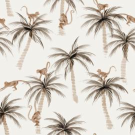Coupon 41cm Family Fabrics - Palms & Monkeys