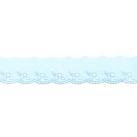 Broderie kantlint 42mm lichtblauw