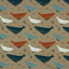 Tricot whale taupe melange