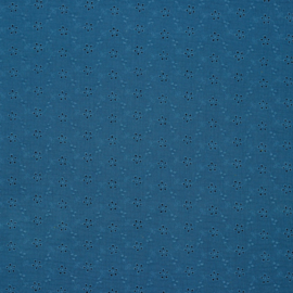 Hydrofiel broderie jeansblauw
