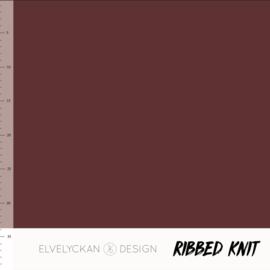 Elvelyckan - Ribbed Knit - Wine