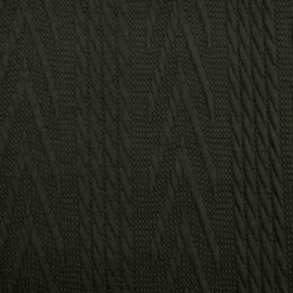 Jacquard knitted cable groot legergroen