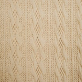 Jacquard knitted cable klein beige