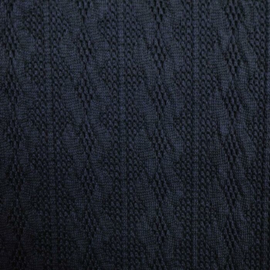 Jacquard knitted cable klein navy