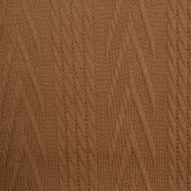 Jacquard knitted cable groot camel
