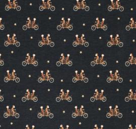 Tricot aap op fiets