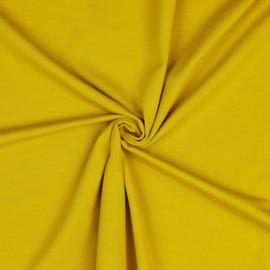 Organisch tricot mosterd uni
