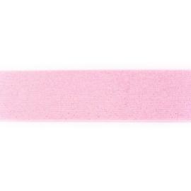 Elastiek 50mm lichtroze glitter