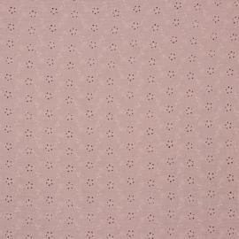 Hydrofiel broderie roze