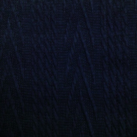 Jacquard knitted cable groot navy