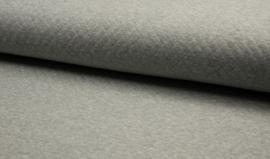Katoen grijs met diamantstructuur