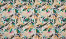 French terry aquarel kolibrie