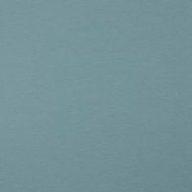 Organisch tricot zeeblauw uni