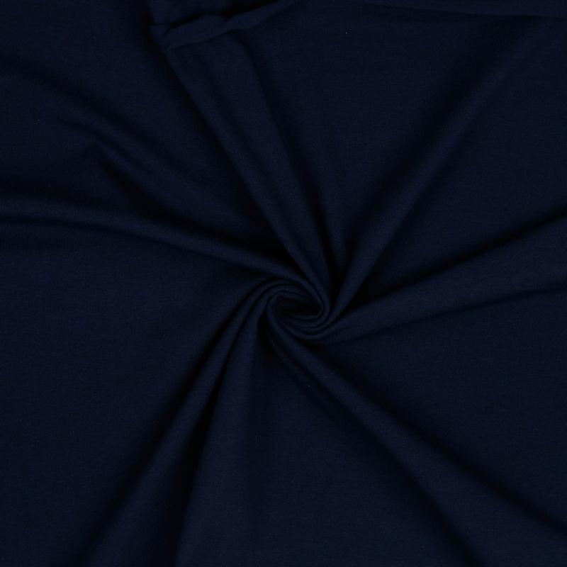 Organisch tricot navy uni