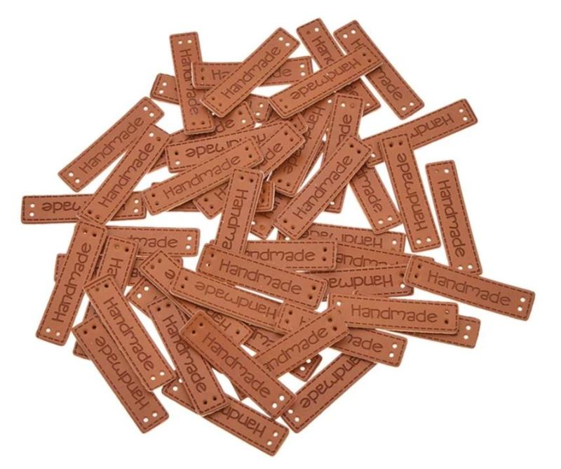 Labels handmade nepleer 10 stuks