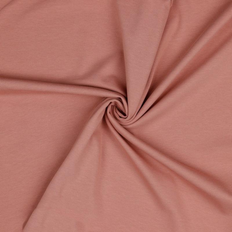 Organisch tricot mauve uni