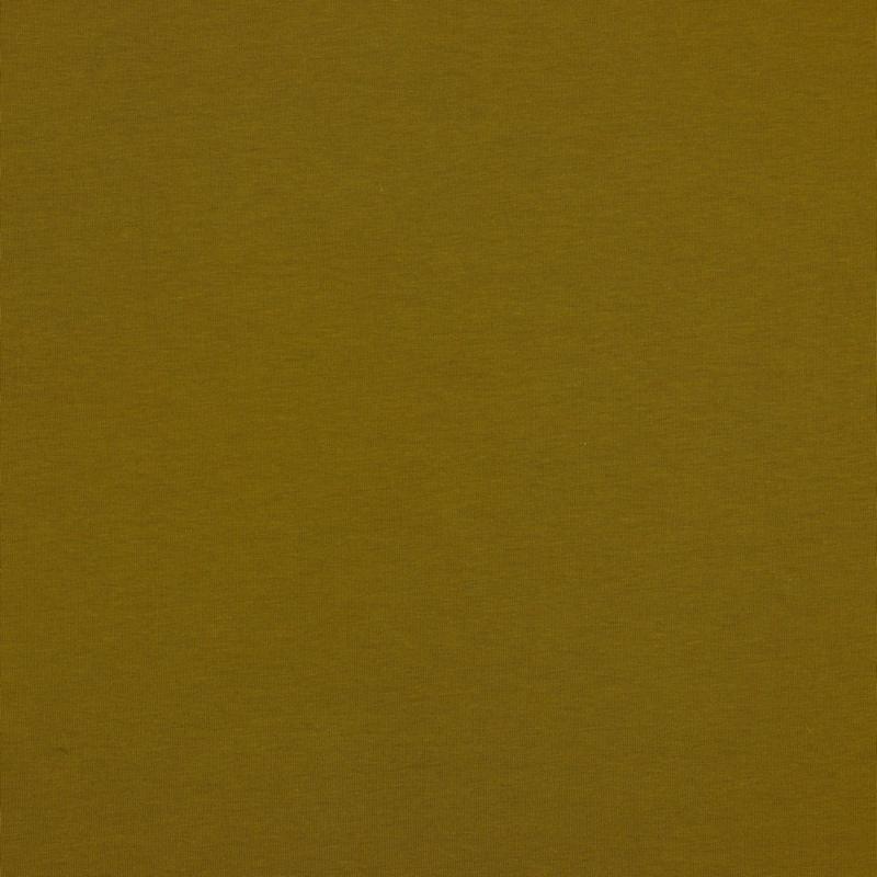 Organisch tricot olijfgroen uni