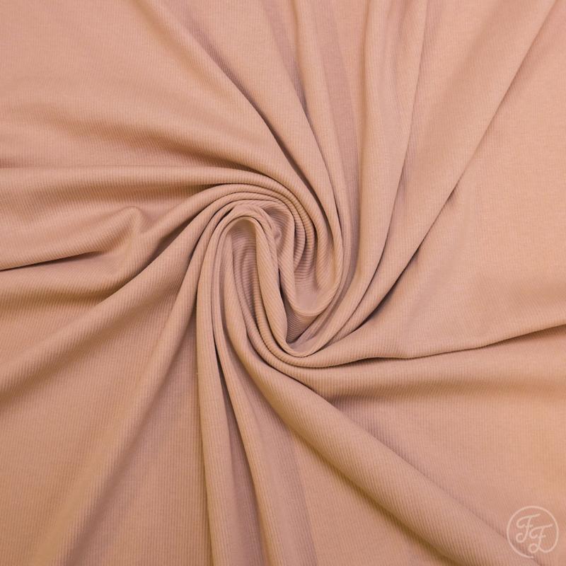 Family Fabrics - Rose Uni Rib