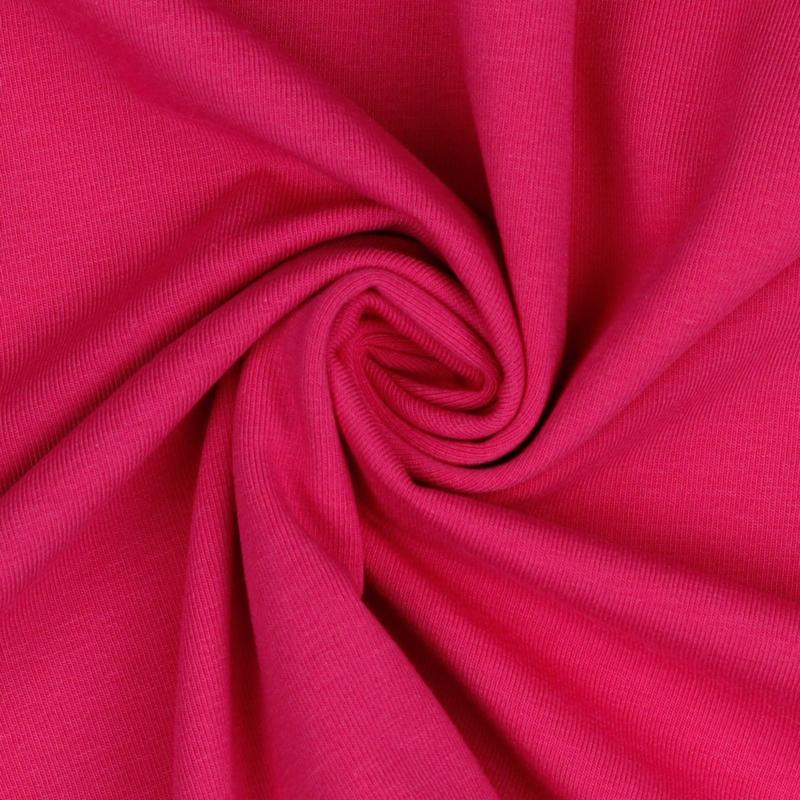 Organisch tricot fuchsia uni