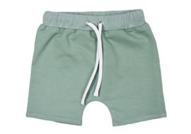 Short met touwtje Minty green handmade