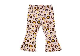 Flared broekje Leopard Baby Rose Handmade