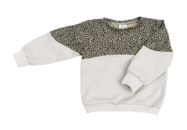 Exclusieve Sweater 2- colour Baby Cheetah & Buttercream
