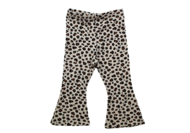 Flared broekje mini Leopard handmade