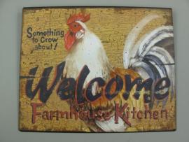 Ijzeren bord Chicken Welcome