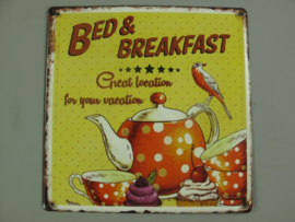 Ijzeren bord Bed & Breakfast