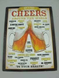 Ijzeren bord How to toast Cheers