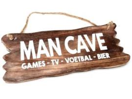 Man cave hout lang