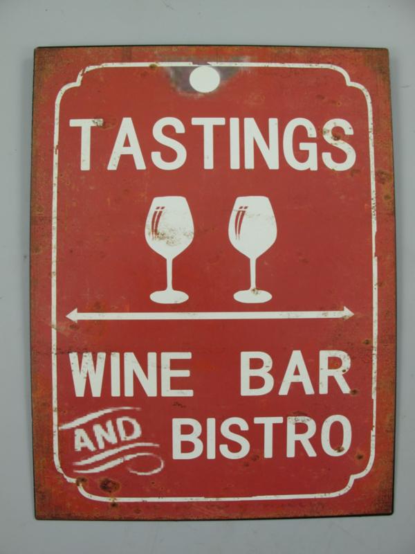 Ijzeren bord Tastings wine bar and bistro
