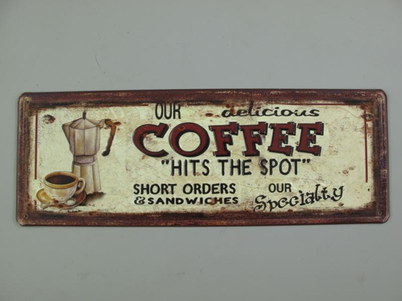 Ijzeren bord langwerpig coffee
