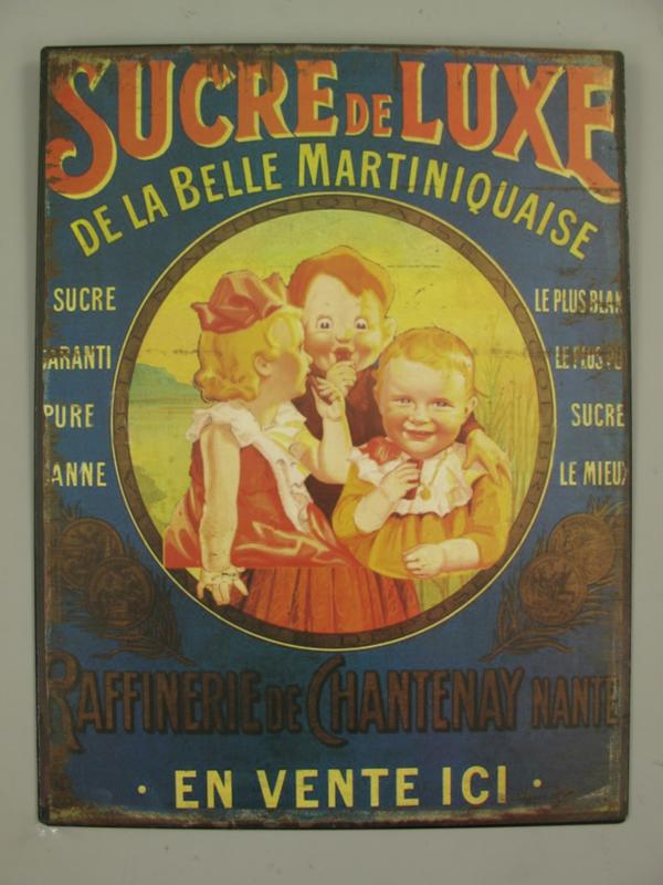 Ijzeren bord Sucre de Luxe
