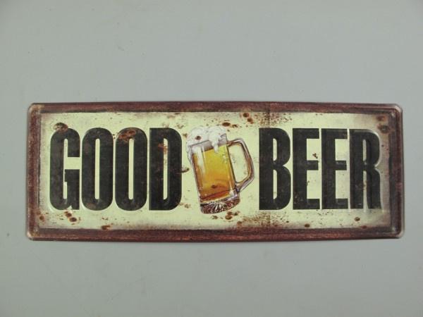 Ijzeren bord langwerpig good beer