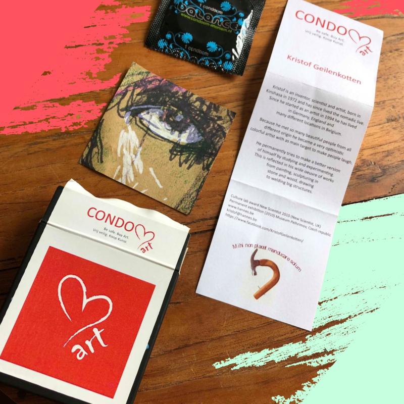 1 CondomArt doosje met authentiek kunstwerkje
