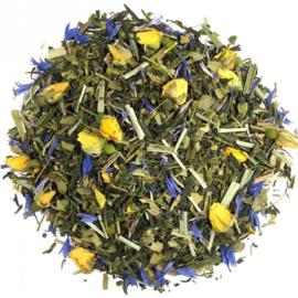 Gearomatiseerde groene en witte thee