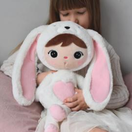 Metoo Bunny  50CM wit/rose/grijs