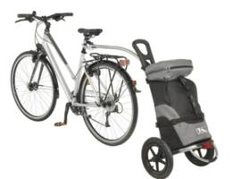 Handige fiets trolly voor mama's.