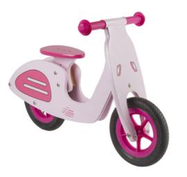 """Meisjes running bike hout rose 10"""""""