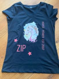 Shirt met Paarde afbeelding en naam
