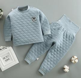 Baby pyjama effen 3-4 jaar 100% katoen adement.