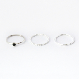 Lucy ring set ♥ onyx silver