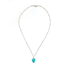 June necklace ♥ turkoois stone silver