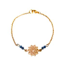 Zoe bracelet ♡ mandala & facets blue gold