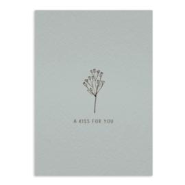 A kiss for you - ansichtkaart